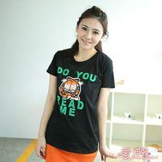 CliPick 的愛洋裝 的美式短袖加菲貓T恤(共一色) 加菲貓:http://www.clipick.com/item?sid=124873