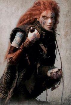 Nemain - (Nemhain): deusa celta de Pânico e Guerra, é uma das fúrias de batalha. Diz a lenda que seu grito é capaz de matar 100 homens .Ela pode ser um aspecto de Morrigan, a deusa guerreira.