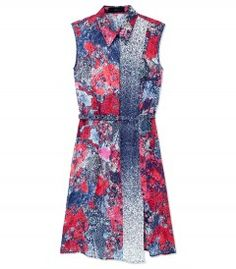 Nonoo Printed Sleeveless Dress - Taylor Swift shows you how to stay chic in the heat: http://shop.harpersbazaar.com/in-the-magazine/summer-girls