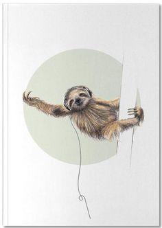 Sloth - Janine Sommer - Premium notitieboekje