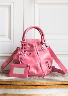 9167df29b7a0 Mini Pompon Classic Rose Bonbon - Balenciaga