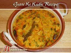 Gatte Ke Kadhi recipe--this website has lots of great Indian vegetarian recipes