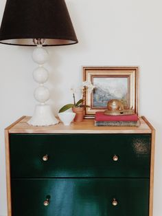 """This was my first Ikea hack–although I prefer the term """"upgrade"""" since it sounds way less violent (see my friend Sarah's Ikea upgrade, sounds way classier). I had been inspired by the Ikea Rast hacks I had seen online with campaign hardware, on..."""