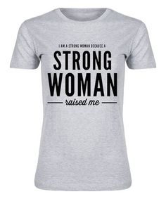 Another great find on #zulily! Athletic Heather 'Strong Woman' Fitted Tee #zulilyfinds