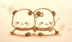 Girly Drawings, Kawaii Drawings, Animal Drawings, Panda Kawaii, Kawaii Art, Panda Love, Cute Panda, Chibi Cat, Anime Chibi