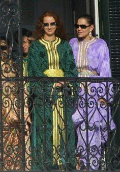 Morocco princesses Lalla Hasna, Caftan Gallery, Moroccan Caftan, Royal Fashion, Traditional Outfits, Kaftan, Morocco, Sari, Daughter