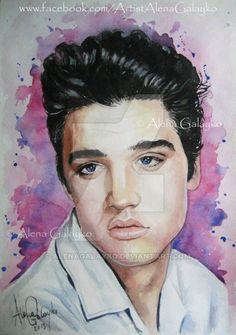 Elvis Presley by AlenaGalayko on DeviantArt