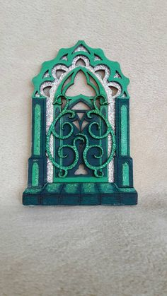 Large 3D Wooden Handpainted  'Oz' Inspired Emerald