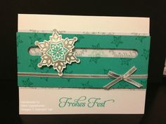Spinner Card, Festive Flurry, Stampin' Up!