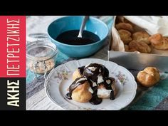 Profiterole - choux pastry dessert by Greek chef Akis Petretzikis. A wonderful dessert with a rich chocolate, cream and homemade, light, fluffy choux pastries! Greek Sweets, Greek Desserts, Cold Desserts, Profiteroles, Confectionery Recipe, Choux Pastry, Something Sweet, Chocolate Cream, Cravings