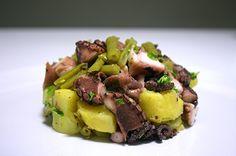 Polpo con fagiolini e patate enerzona dieta zona