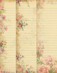 Téléchargement immédiat - Pack papier stationnaire - Original Design - feuilles Collage numérique imprimable - téléchargement numérique