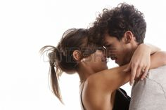 Young couple - woman, person, together, pretty, model, attractive, beauty, isolated, caucasian, style, party, adult, background, black, length, beautiful, male, men, fashion, relationship, nice, female, romance, young, boy, face, trendy, hug, romantic, stylish, couple, full, girl, casual, girlfriend, sexy, guy, people, smile, handsome, boyfriend, happy, white, love, modern, two, human, portrait, hair
