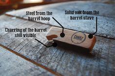 whiskey-barrel-opener-explained - for sale on our new site. Beer Bottle Opener, Bottle Openers, Old Irish, Irish Whiskey, Solid Oak, Wood Projects, Barrel, Ideas, Bottles