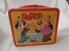 1980 Popeye Metal Lunch Box like Taylor had. Retro Lunch Boxes, Lunch Box Thermos, Cool Lunch Boxes, Metal Lunch Box, School Lunch Box, School Lunches, School Days, Vintage Tins, Vintage Metal