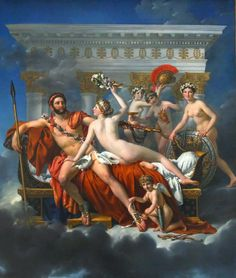 Jacques-Louis David, Mars Being Disarmed by Venus, 1822-25, olio su tela, 3,1 m x 2,65 m.