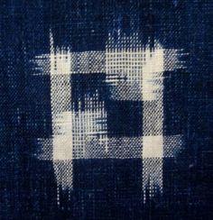Japanese textiles: kasuri panel -  close up