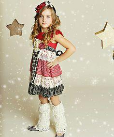 Black & Cherry Delphine Tea Party Dress - Infant, Toddler & Girls #zulily #zulilyfinds