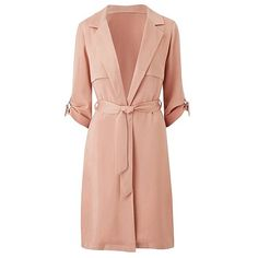 Longline Duster Jacket with Ring Detail | SimplyBe US Site ($40) ❤ liked on Polyvore featuring outerwear, coats, dresses and duster jacket