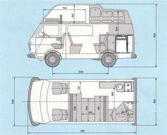 Sven Hedin Camper - Camper Layout More Source by Vw Camper Bus, Camper Caravan, Camper Life, Vw T5, Volkswagen, Trailers, Vw Lt 4x4, Camper Van Shower, Vw Wagon