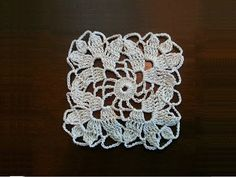Crochet Square Motif - Leaves Pattern - YouTube
