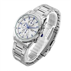 Longbo Stainless Steel Luminous Men Watches Luxury Analog Male Clock Quartz Wrist Watch Fashion QuartzWatch 80012001 *** Check out this great product. (Note:Amazon affiliate link)