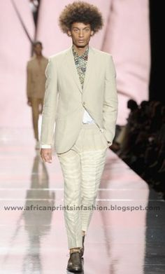 African Prints in Fashion: African Icons Show at NYFW: Ozwald Boateng