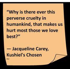 Jacqueline Carey Quotes (Author of Kushiel's Dart) Scripture Quotes, Book Quotes, Me Quotes, Fantasy Books, Fantasy Series, Song Lyrics, Good Books, It Hurts, Writer