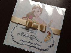 Convite para Aniversario - Bela e a Fera especial - Le Charm