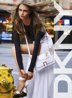 Cara Delevingne fronts DKNY's spring campaign