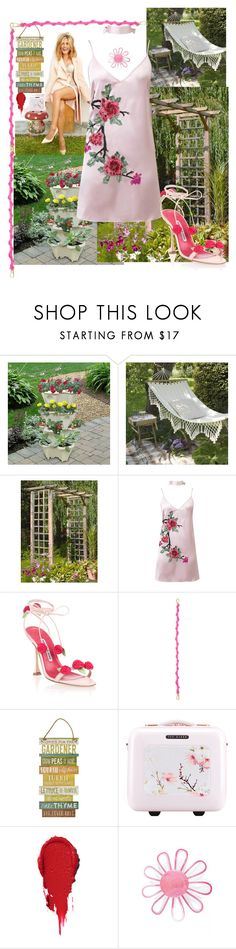 """""""Springy"""" by archsan ❤ liked on Polyvore featuring Improvements, WithChic, Manolo Blahnik, Loewe, Ted Baker and Current Mood"""