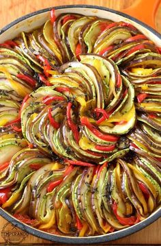 This Ratatouille recipe comes together quickly for a fresh weeknight dinner. Plus, it's suitable for gluten free, paleo and vegan diets! Veggie Recipes, Vegetarian Recipes, Cooking Recipes, Healthy Recipes, Eat Healthy, Best Dinner Recipes, Breakfast Recipes, Breakfast Ideas, Love Food