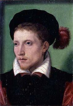 François Clouet - Portrait of a Young Equestrian, 1560