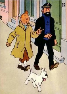 Tintin, Capitaine Haddock et Milou