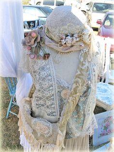 Romantic Paris Rags Dress Form