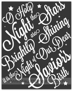 """stayathomeartist.com: """"o holy night"""" christmas printable..."""