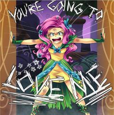 Bwahaha I love fluttershy... In this pic she looks like Pinkie pie haha xD
