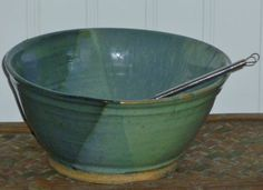 Handmade Pottery Stoneware Bowl with Oasis by PotteryLaceNautical
