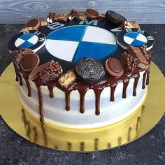 Picture could contain: dessert and food - BMW❤❤CARS - Fondant Flower Cake, Fondant Rose, Fondant Cakes, Fondant Baby, Fondant Figures, Birthday Cakes For Men, Bmw Torte, Bmw Cake, Bmw Suv