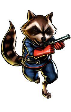 Marvel Rocket Raccoon.