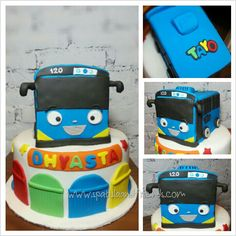 Little bus Tayo cake ♥