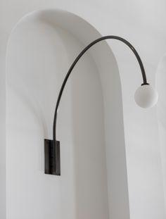 "Contour Wall Lamp 22"" Blackened Brass"