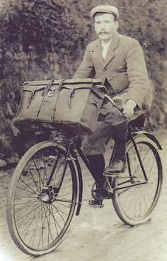 Victorian man on a bicycles