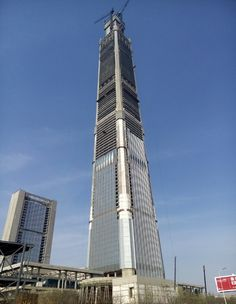 Concluída Construção da Estrutura do Edifício Mais Alto da China