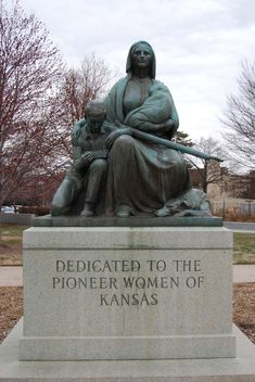 A monument to the Pioneer Women of Kansas. My great grandmother stated as a young girl immigrating by covered wagon to Rush County Kansas in the late fall left the family no choice but to dig into a hill side to survive their first winter. This was the start of providing a better way of life for Volga German Immigrants.