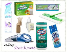 Cleaning routine for college dorm or apartment