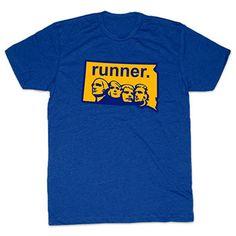 Mens Lifestyle Runners Tee South Dakota State Runner | Running Mens Cotton Tshirts