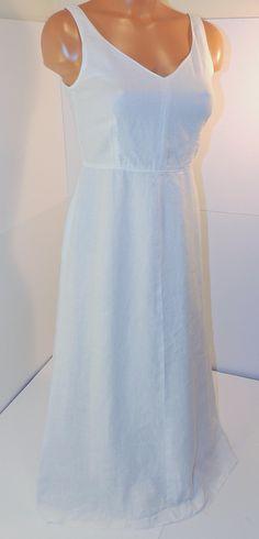 J.Crew White 100% Linen Tea Dress Sz 2  @jcrew #jcrew #linen #whiteonwhite #lastsummer #jcrewalways
