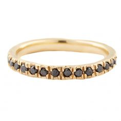 Black Diamond Eternity Band // Lauren Wolf