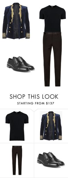 """Untitled #189"" by adellolita on Polyvore featuring Dolce&Gabbana, Balmain, men's fashion and menswear"